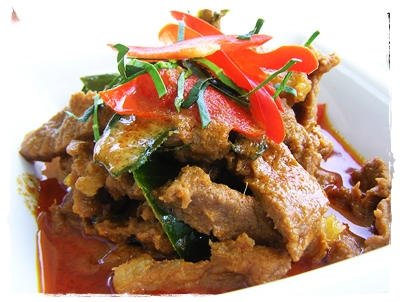 Thaise Beef in Panang curry